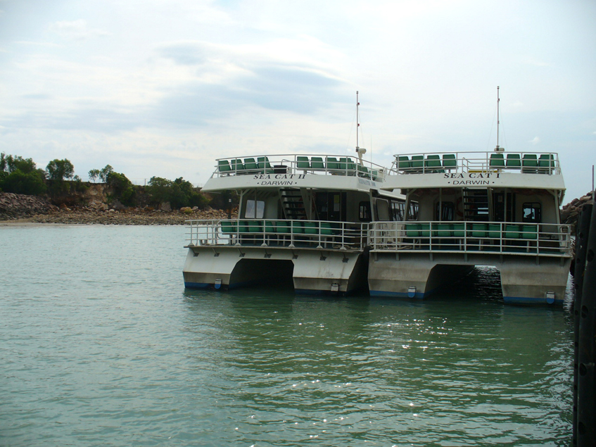 The ferry to Mandorah and the floating jetty