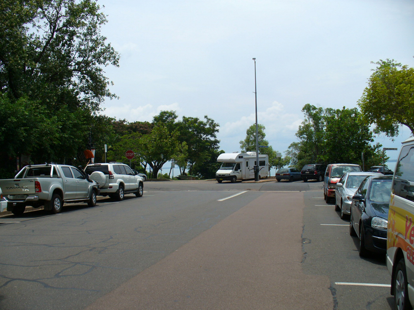 Parking along Knuckey Street Darwin opposiste the Esplanade and Char Restaurant