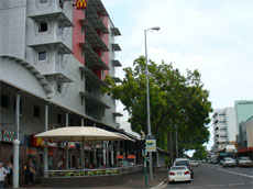 Smith Street near Central Hotel and McDonalds in Darwin