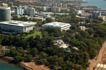 Ariel view of Parliment House Darwin