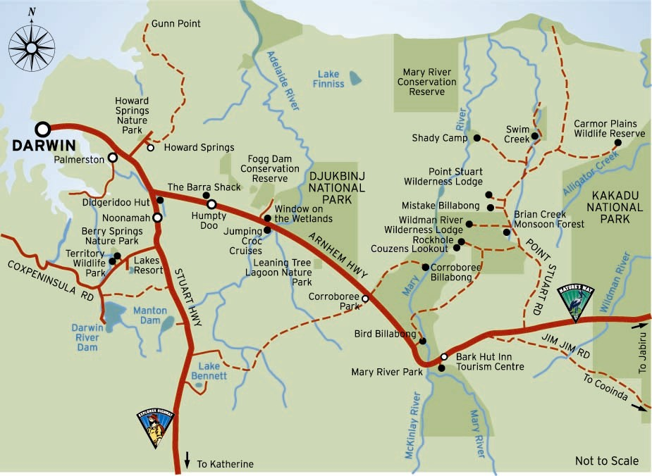 Map Of Australia Highways.Map Of Arnhem Highway Northern Territory Australia