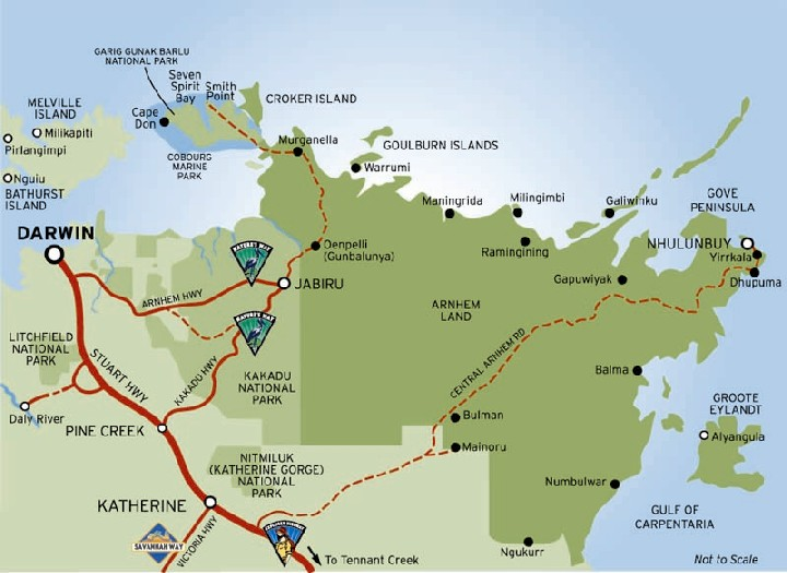 Map Northern Australia.Map Of Northern Territory Coast In Australia